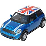 Toyhouse 1:32 DIE-CAST Pull Back Car For Children With Light And Sound Blue