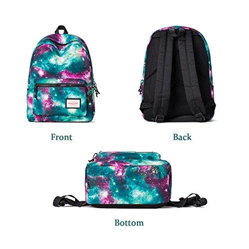 Flada 3D Galaxy Muster Daypack Reise Tasche Teenager Tasche #2 #1