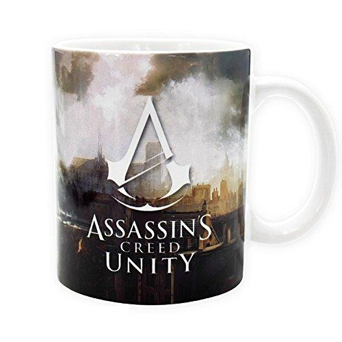 (Assassins Creed - Keramik Tasse 320ml - Unity - Arno auf den Dächern von Paris - toll und stabil verpackt in einer Geschenkbox!)