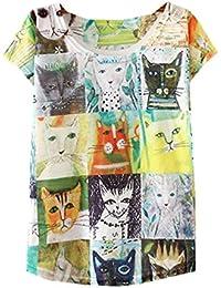 721bd88d6a73 YICHUN Femme Fille Eté Léger Tops de Loisir T-Shirt Tee-Shirt Fin Camisole