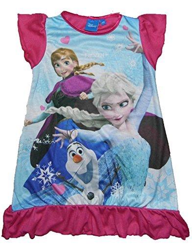 Mädchen Nachthemd ARIEL ASCHENPUTTEL MLP Scooby Doo Shopkins Prinzessin Frozen - Eiskönigin (frozen), 104
