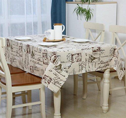 Gzq Nappe Linens Housse de table pour pique-nique Maison de cuisine extérieur Rond rectangulaire Table ovale fête de Noël Cadeau de mariage décoratifs, Lin, gris, 120*160CM