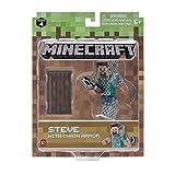 Minecraft - Figurine 7Cm - Steve en Armure & Cote de Mailles Série 4 Vague 1