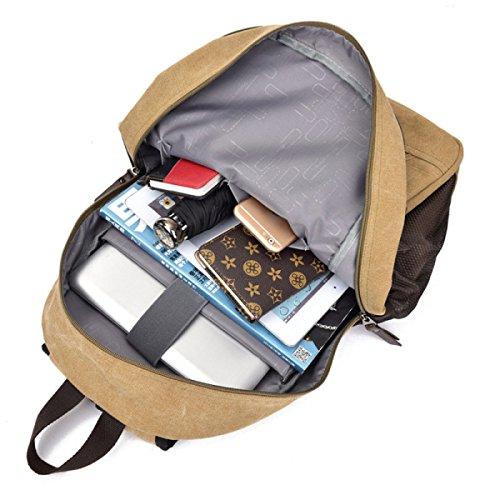 Freizeit Reisetasche Schultertasche Student Bag Outdoor Rucksack,ArmyGreen Black