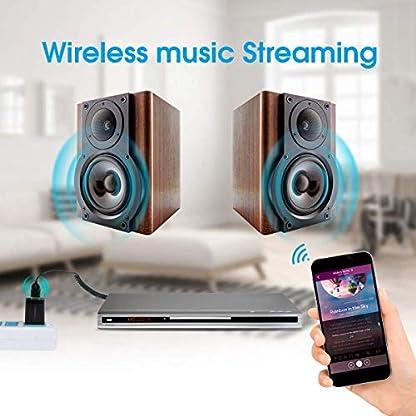 Bluetooth-empfnger-AutoBluetooth-50-Adapter-aux-USB-Audio-mit-MikrofonBluetooth-Recevier-fr-KFZ-Auto-HiFi-Lautsprechersystem-Heim-Stereoanlage-mit-35-mm-Klinke