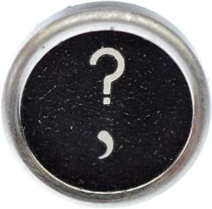 Miniblings Macchina da Scrivere Marchio Spilla Badge Pin interrogativo Nero - Gioielli Fatto a Mano Ho Pin Button Pins