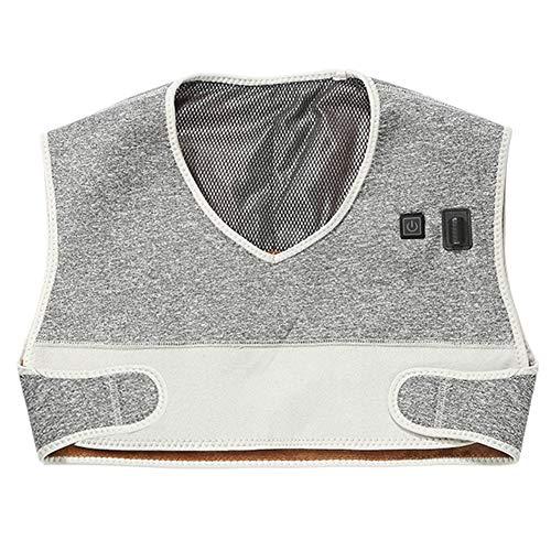LIBINA - Schulter Heizkissen Wärmepads Elektrische Heizweste Schal, Schnellheiztechnik,Wärmetherapie Wrap Nacken- und Schulterheizkissen,Whitegray