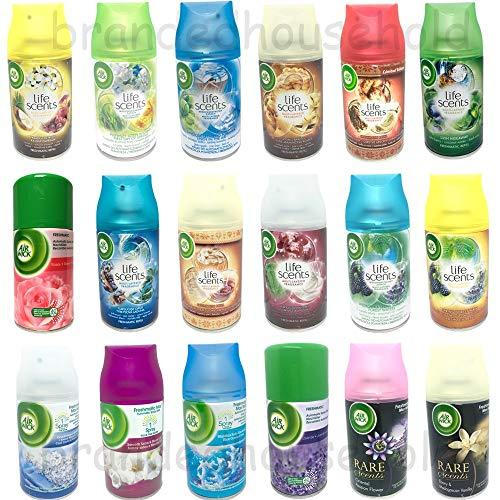 6x Airwick Freshmatic Max Automatic Spray Refills Mix 250ml