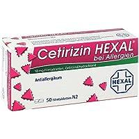 Preisvergleich für Cetirizin Hexal bei Allergien, 50 St. Filmtabletten
