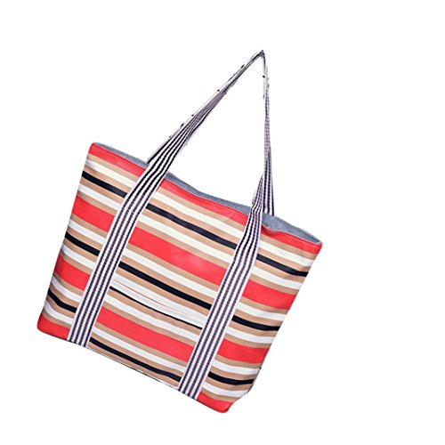 Transer Women Shopping Bag Popular Girls Hand Bags Ladies Canvas Handbag, Borsa a spalla donna Purple 32cm(L)*33(H)*9cm(W) Red