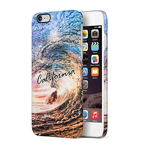 Maceste California Sea Beach Ocean Surf Tumblr Good Vibes Kompatibel mit iPhone 6 / iPhone 6S SnapOn Hard Plastic Phone Protective Fall Handyhülle Case Cover -