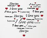 Adesivo Murale Wall Sticker Cuore Frasi romantiche amore Regalo...
