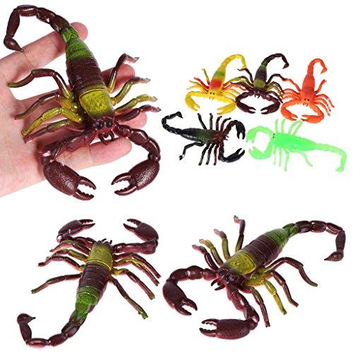 tik Tier Spielzeug ,Halloween Party Trick Spielzeug, TPR Kunststoff Simulation Scorpion Tiermodell Kinder Kinder Pädagogisches Spielzeug Für Kinder ()