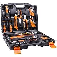 Caja de herramientas TACKLIFE de 68 piezas ideal para reparaciones del hogar y proyectos DIY. Kit de herramientas de emergencias para bricolaje casero y pequeñas reparaciones del hogar.HHK2A