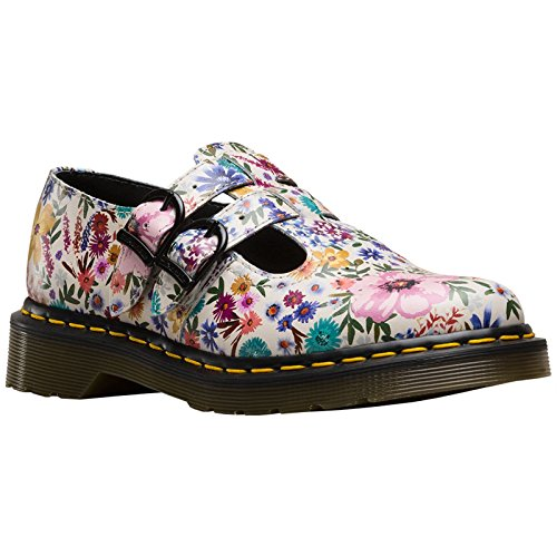 Dr. Martens Damen Halbschuhe 8065 Wanderlust Blumen Schuhe (40, Cremefarben mit Blumenmuster) (Schwarze Mary Janes Dr Marten)