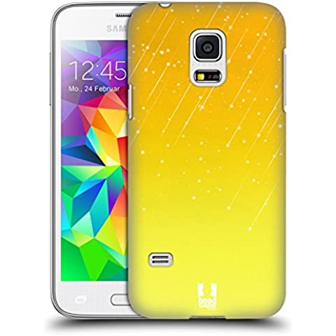 Head Case Designs Giallo Sfumature Della Pioggia Neon Cover Retro Rigida per Samsung Galaxy S5 mini