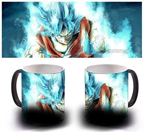 TAZA MAGICA SENSITIVA AL CALOR - GOKU BLUE