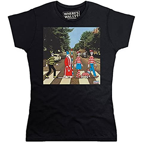 Official Where's Wally Abbey Road Camiseta, Para mujer