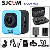Black, OPTION4: Original SJCAM M10 WiFi Action Camera Diving 30M Waterproof Camera Underwater 1080P Sport Camera Connector Set