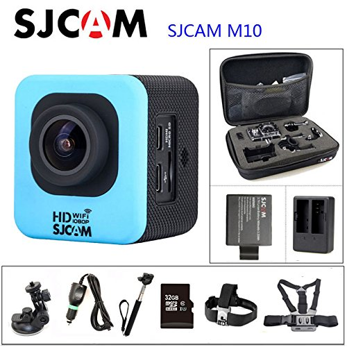 Red, OPTION2: Original SJCAM M10 WiFi Action Camera Diving 30M Waterproof Camera Underwater 1080P Sport Camera Connector Set