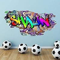 Multi Full Colour Personalised Graffiti Name Brick Wall Sticker Decal Graphic Bedroom Transfer Mural Print