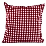 Hans-Textil-Shop Kissenbezug 30x30 cm Karo 1x1 cm Bordeaux Rot