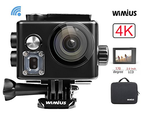 WiMiUS Action Cam, 4k Action Camera WIFI HD 12MP...