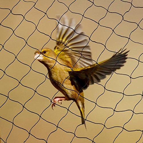 Yahee Vogelschutznetz Laubnetz Teichnetz Netz zum Schutz vor Vögeln Maschenweite: 60 mm (15x15m)