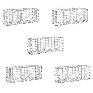 [pro.tec] 5x gabions (40 x 100 x 30cm) (pack économique) gabions en pierre/mur en pierre/paroi en pierre/espaliers/