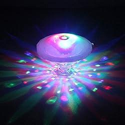 HYDONG Luz LED para Baño Piscina Luces flotantes a Prueba de Agua con Varios Colores 7 Modos de luz para Niños Tiempo de Baño, Fiesta en la Piscina (Batería NO INCLUIDA)