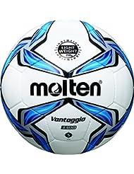 molten Kinder Fußball F5V3335, Weiß/Blau/Silber, 5, F5V3335