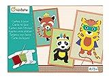 Avenue Mandarine - KC023O - Jeu éducatif - Kit Comprenant 8 Cartes à Lacer - 4 Pelotes de Laine et Notice