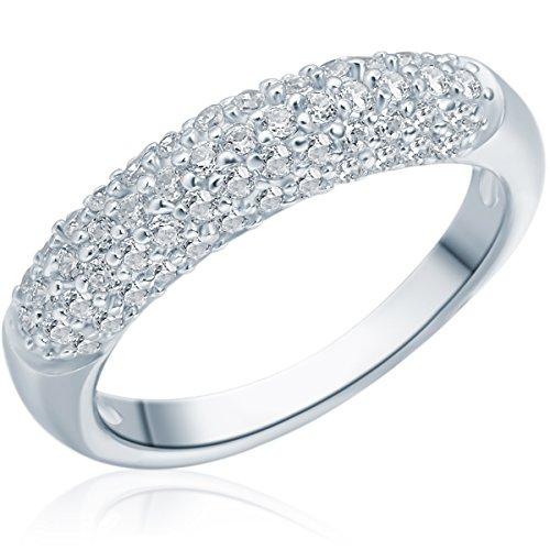 Rafaela Donata Damen-Ring 925 Sterling Silber Zirkonia weiß - Silberring mit Steinen in Pavé-Fassung 60800059