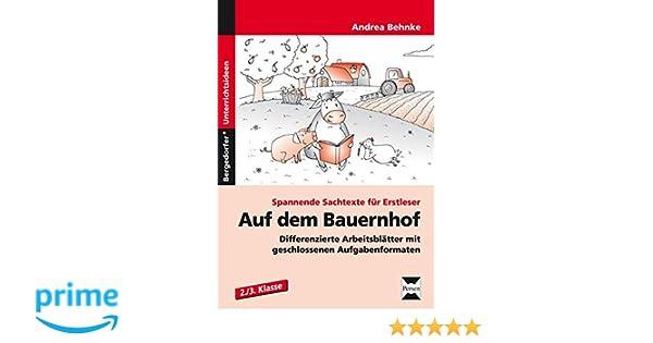 Auf dem Bauernhof: Differenzierte Arbeitsblätter mit geschlossenen ...