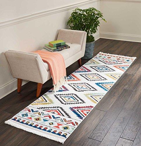 Marca de Amazon - Movian Matevir, alfombra rectangular, 236,2 de largo x 66 cm de ancho diseño geométrico...