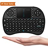 Brobeat Mini Wireless Bluetooth Keyboard Gaming Keyboard English Air Mouse USB QWERTY Keyboard Touchpad Compatible With All Android And IOS Devices (Assorted Colour)