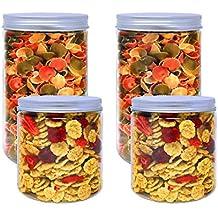 Pack 4 Botes de Polietileno Alimentario, 0,95 L (12x10cm) y 1
