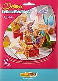 Decocino Essbare Schmetterlinge HOCHWERTIGE Tortendeko von DEKOBACK | essbare Schmetterlinge aus Oblaten | 3er Pack (3 x 4 g) | 12 Motive pro Packung | Schmetterlinge Kuchendeko kaufen