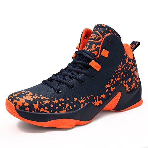 Scarpe Uomo Arancione Nero Sneaker Bianco Sportive Da Basket PwO8kn0X