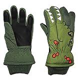 Unbekannt Fingerhandschuhe mit Schaft / Strick Bündchen -  Krokodil grün  - Thermo gefüttert Thermohandschuh - Größe: 3 bis 4 Jahre - wasserdicht + atmungsaktiv Thins..