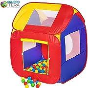Divertente e colorata tenda da gioco per bambini, con 200 palline, che farà scintillare gli occhi dei vostri bambini.  Detto in poche parole: un'idea di gioco per ogni bambino!  Con Tetto della tenda removibile, incluse 200 palline in Quattro...