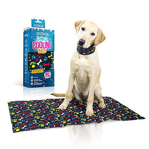 Cane tappetino di raffreddamento: spessore cuccia per mantenere il vostro animale domestico freddo in acqua calda. Con un free Collar fredde. By Magicgel, Multi, 50*90cm+ Large neck cooler