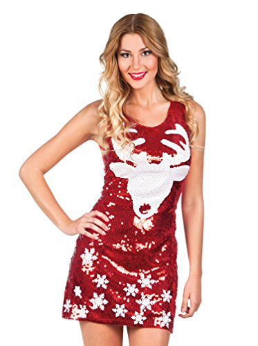 hsenenkostüm Dazzle Rentier, M, rot (Christmas Fancy Dress Ideen Für Damen)