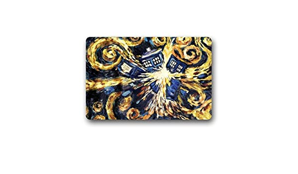 Voxpkrs Custom Machine-Washable Door Mat Vincent Van Gogh Abstract Art Doctor Who Indoor//Outdoor Doormat