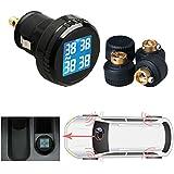 Universal Coche TPMS Neumáticos Sistema de monitor de presión de los neumáticos con 4sensores externos