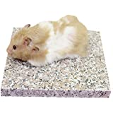 Emours Pierre de granit pour le refroidissement des hamsters, Accessoire pour petits animaux 8,9x 8,9cm