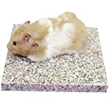 Emours Hamster Chinchilla Chiller Cool Granite Stone Small Animal Habitat Decor, 7.8 x 5.9 inch