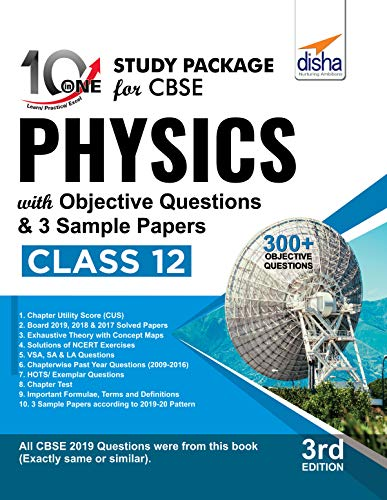 10 in One Study Package for CBSE Physics Class 12 with Objective Questions & 3 Sample Papers 3rd Edition (English Edition)