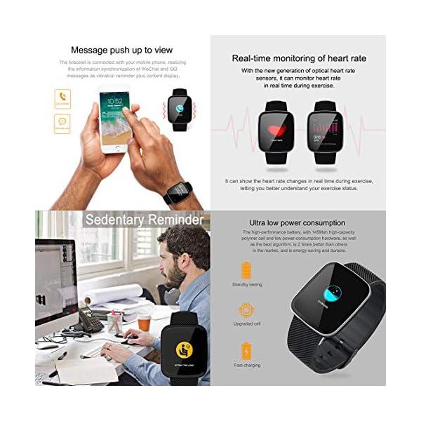 EUMI Smartwatch, Reloj Inteligente con IP67, Pulsera Actividad Inteligente Batería 10-15 días 1.3'' a Color 8… 6