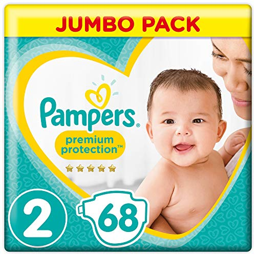 Pampers - New Baby - Couches Taille 2 (3-6/4-8 kg) - Jumbo Pack (x68 couches)